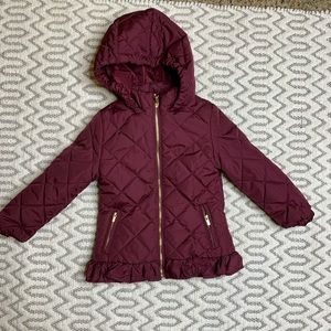 Copper Key Burgundy Quilted Jacket Size 2/3